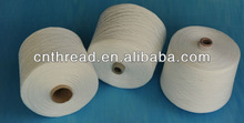 100% spun polyester yarn .raw white