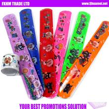 2013 custom promotion reflective safety Sheet steel slap wristbands/pvc slap for promotion