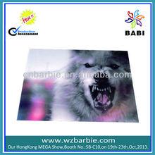 Forest wolf Picture Decoration 3d plastic Placemat