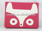 Hot Pink Cute Fox Pattern PU Leather Shell Case Cover for iPad 2/3/4