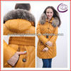 Waterproof softshell jacket ladies long style shiny goose down jackets