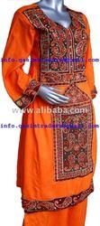 Afghan Iran Traditional Tribal Baluchi Woman Lady Dresses using Computerized turkoman Embroidery