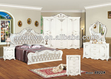 Carved bedroom sets queen poster bed leisure white bedroom furniture with beauty armoire