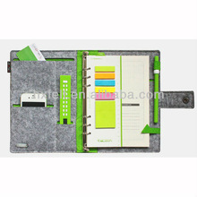 Manufacurer new design felt book cover with pencil case, phone case and card case