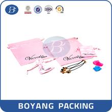 New style cheap large satin drawsting lingerie bag