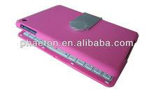 Hot sale Ultra-slim for bluetooth iPad mini keyboard case /cover +Wireless bluetooth, rotating mini ipad case