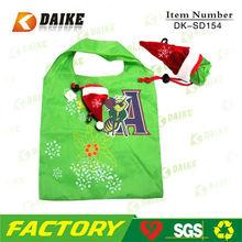 Eco Polyester Christmas Trendy Rreusable Shopping Bags DK-SD154