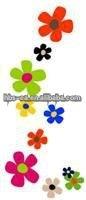 Printed 3d flower wall sticker 2012