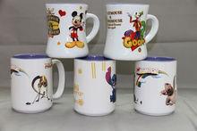3D color glaze animal ceramic Mug with Disneyl design