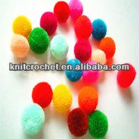 Popular Craft Supply Assorted Color Acrylic Pompoms,Pompon,Pom Pom