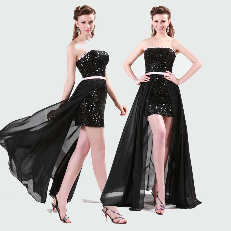 Sweetheart Chiffon Short Sequins Cocktail Dresses CL4408