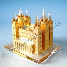 Salt Lake City Church grand model Wholesale custom-made crystal metal building model