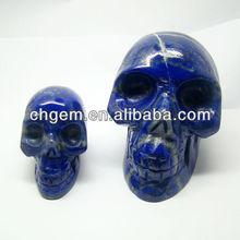 natural carved stone skull lapis lazuli skull carving