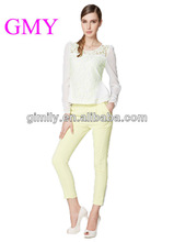 long chiffon sleeve ladies lace blouses & tops product type white lace blouse