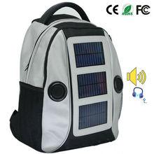 creative solar backpack solar speaker function hiking bag