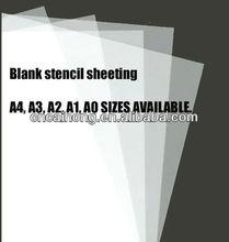 10 x A4 thin clear PVC plastic stencil film sheets for cutting reusable stencils