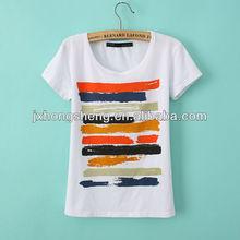 2014 women bulk plain 100% cottn t-shirt,white t-shirt for women