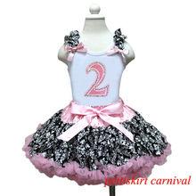 2nd Birthday Tank Top Light Pink Demask Pettiskirt 2pc Party Dress