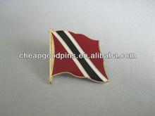 Customized Imitation Cloisonne metal lapel pins of flag