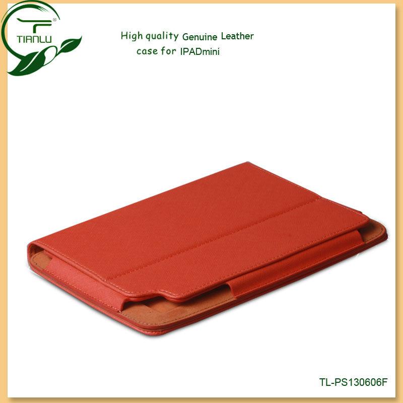 For ipad mini genuine leather flip case innovative fashion design mobile phone cases and covers for ipad mini