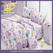 Colorful circles printed coral fleece blanket in soft