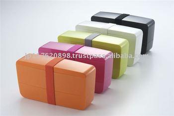 slim lunch box smart bento white made in japan buy lunchbox pr. Black Bedroom Furniture Sets. Home Design Ideas