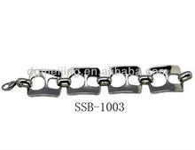 Light weight Silver 316 Stainless Steel Top Brands Bracelet(SSB-1003)