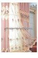 2013 alta- grado de color rosa bordado neto cortinas