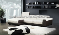 2013 Modern Design Genuine Leather Corner L Shaped smart sofa with chaise longue water lounge A350-27