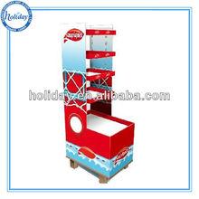 Supermarker cardboard basketball/football/volleyball display stand