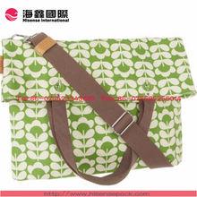 2014 Popular green canvas bag wholesale