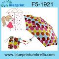 5 pieghevole moda colorata dot pioggia ombrello telaio