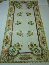 Nett Curtain with multi color velvet patch work design size 150x300 cms