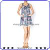 ladies cheap sleeveless chiffon floral designer dresses short