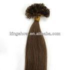Cheap 28 inch human remy hair u tip bonding fusion hair extension