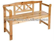 wooden park bench / patio bench / garden bench