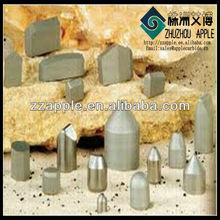 tungsten carbide rock drill button on Tricone bit