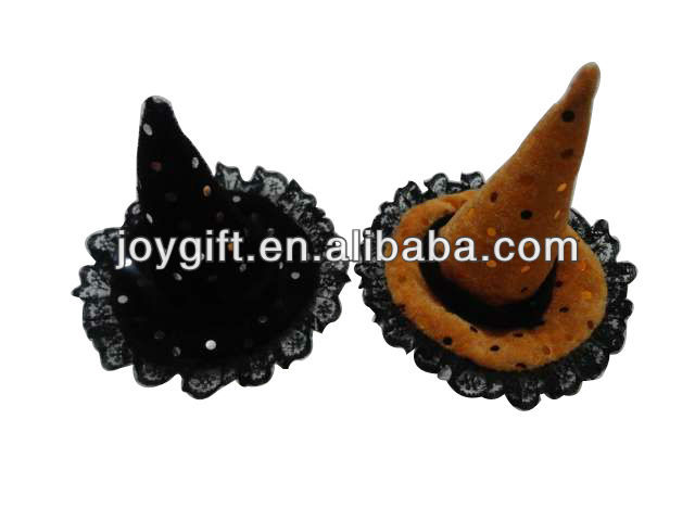 Halloween Decorations Witches Hat Lace Decorative Witch Hat