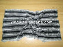 Dyed Rex rabbit skin fur plate