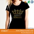 coroa de rainha de ouro atacado motivo de ferro nas letras strass de transferência de calor