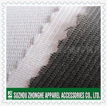 Fusible weft insert warp knitting interlining for garment