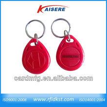 Shenzhen rfid nfc Smart car key fob 13.56MHz eposy laser printing
