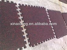 Interlocking Rubber Flooring Tile , Fitness Center Interlocking Rubber Floor Tile