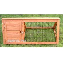 Triangle wooden rabbit hutch