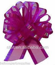 Wedding venue decorations organza pull bows