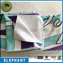 Popular wholesale soft 100% microfiber black and white printed bath towel