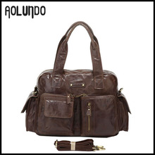 Mens top genuine leather purses and handbags brand name