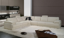 2013 Latest Design, Modern Genuine Top Grain Leather L Shaped Sofa Set home cinema sofa A097-2