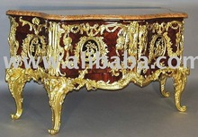 Antique Furniture - Louis XV Style Ormolu-Mounted Commode