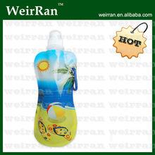 (21339) 16oz foldable cute drinking plastic bag water